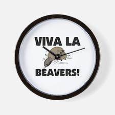 Viva La Beavers Wall Clock