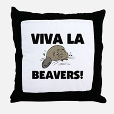 Viva La Beavers Throw Pillow