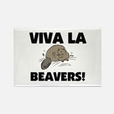 Viva La Beavers Rectangle Magnet