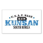 Kunsan Air Force Base Rectangle Sticker 50 pk)