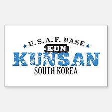 Kunsan Air Force Base Rectangle Sticker 10 pk)