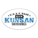Kunsan Air Force Base Oval Sticker (10 pk)