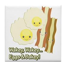Wakey Wakey Eggs N Bakey Tile Coaster