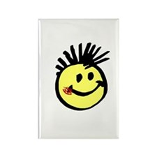 Smiley Face with Mohawk Rectangle Magnet