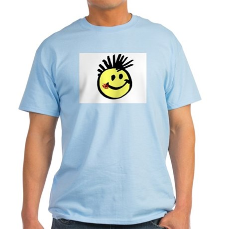 Smiley Face with Mohawk Light T-Shirt