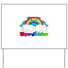 Super Rainbow Superhero Yard Sign