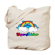 Super Rainbow Superhero Tote Bag