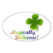 Magically Delicious! Oval Decal