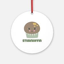 Super Cute Stud Muffin Ornament (Round)