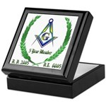 Masonic 5 Year Member Keepsake Box