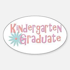 Kindergarten Graduate Oval Decal