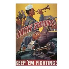 Navy WWII Poster Postcards (Package of 8)