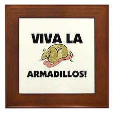 Viva La Armadillos Framed Tile