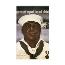 Navy WWII Poster Rectangle Decal