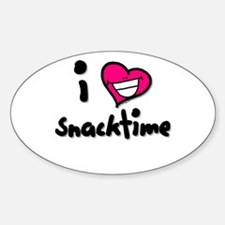 I Heart Snacktime Oval Decal