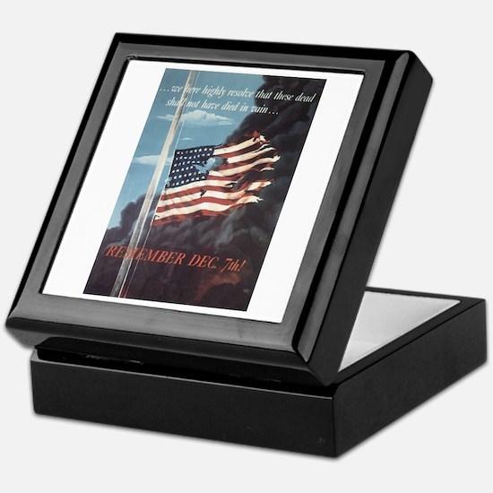 Navy WWII Poster Keepsake Box