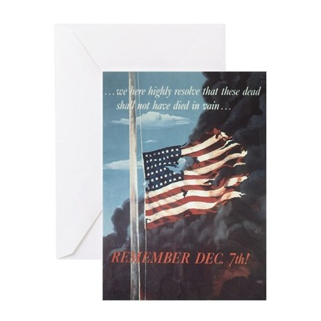 Navy WWII Poster Greeting Card