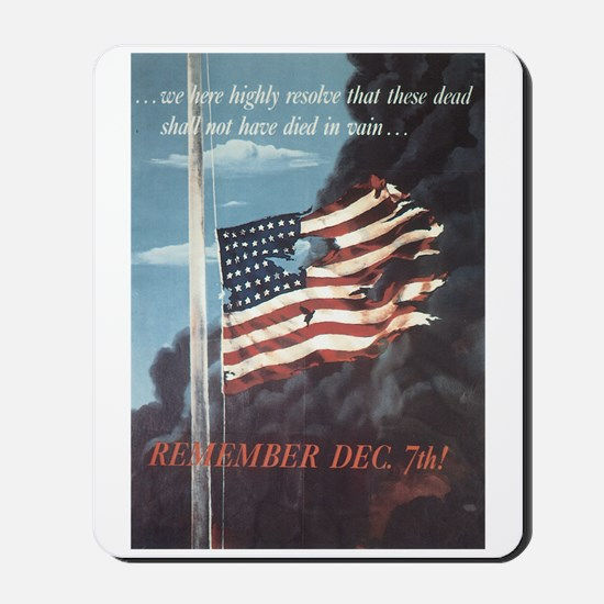 Navy WWII Poster Mousepad