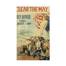 Navy WWI Poster Rectangle Decal