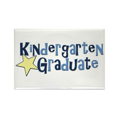 Boy Kindergarten Graduate Rectangle Magnet (10 pac