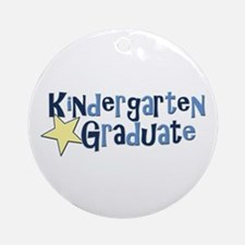 Boy Kindergarten Graduate Ornament (Round)