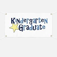 Boy Kindergarten Graduate Banner