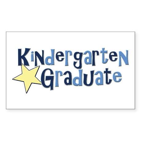 Boy Kindergarten Graduate Rectangle Sticker