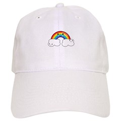 Rainbow and Cloud Pals Baseball Cap