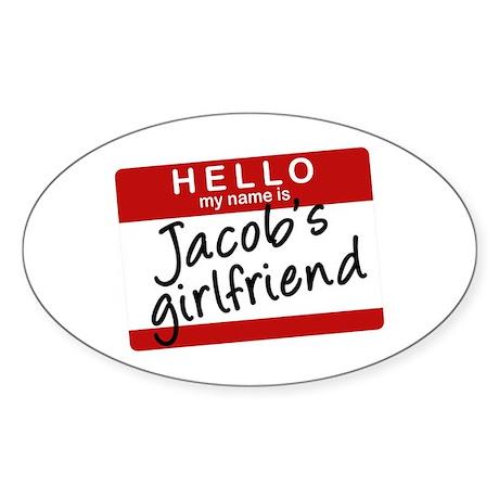 Twilight - Jacob's Girlfriend Oval Sticker