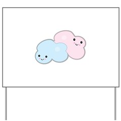Happy Pastel Clouds Yard Sign