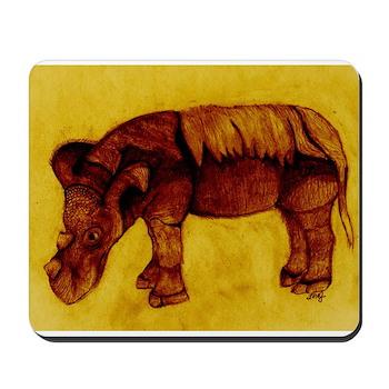 Sumatran Rhino Color Mouse Pad