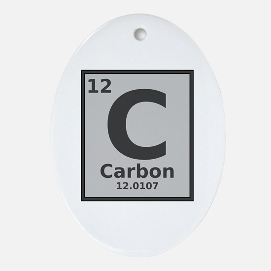 Carbon Oval Ornament