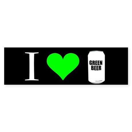 Green Beer Bumper Sticker