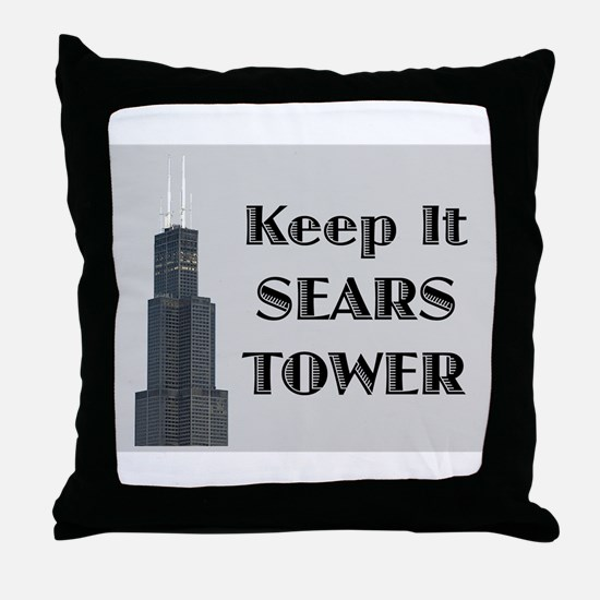 Keep It Sears Tower Throw Pillow