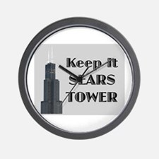 Keep It Sears Tower Wall Clock