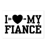 I Love My Fiance Postcards (Package of 8)
