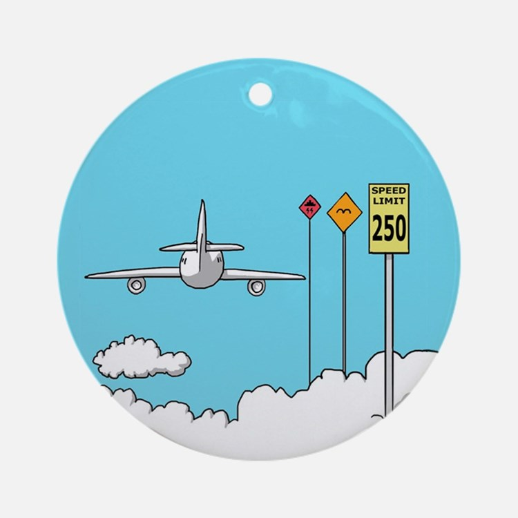 Fly Safe Ornament (Round)