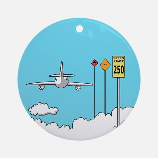 Fly Safe Round Ornament