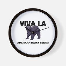 Viva La American Black Bears Wall Clock