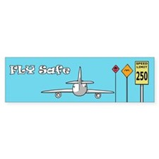 Fly Safe Bumper Sticker