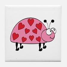 Lucky Love Bug Tile Coaster