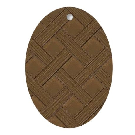 Brown Trellis Oval Ornament