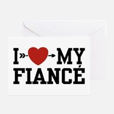 I Love My Fiance Greeting Cards (Pk of 10)