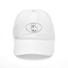 Oval- White Baseball Cap