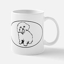 Oval- White Mug