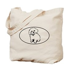 Oval- White Tote Bag