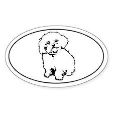 Oval- White Oval Bumper Stickers