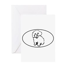 Oval- White Greeting Card