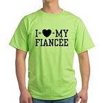 I Love My Fiancee Green T-Shirt