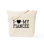 I Love My Fiancee Tote Bag
